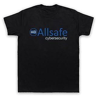 Mr Robot Allsafe Logo Mens T-Shirt, Black, Medium