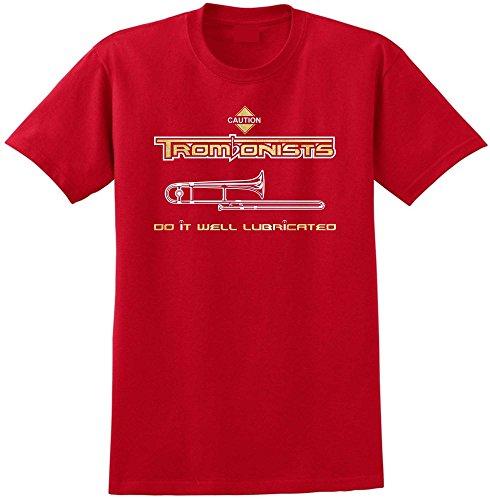 Trombone Well Lubricated - Red Rot T Shirt Größe 87cm 36in Small MusicaliTee (Bass Valve Trombone)