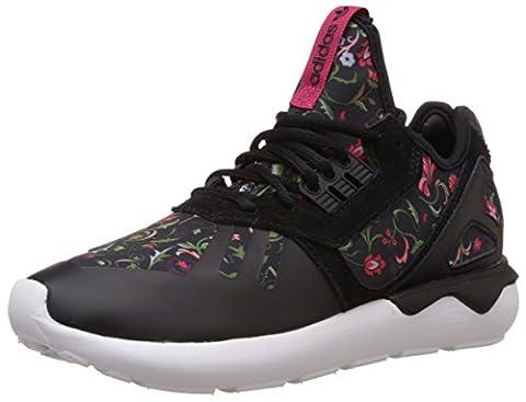 adidas Tubular Runner, Running femme - Noir - Schwarz (Core Black/Core Black/Vivid Berry S14), 39