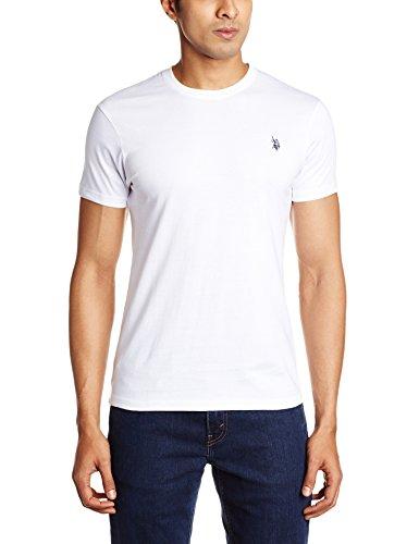 US Polo Assn. Men's Crew Neck Cotton T-Shirt (I030-001-P1-L White)