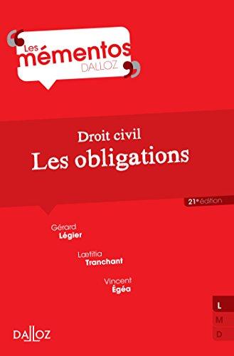 Droit civil. Les obligations - 21e éd. par Gérard Légier