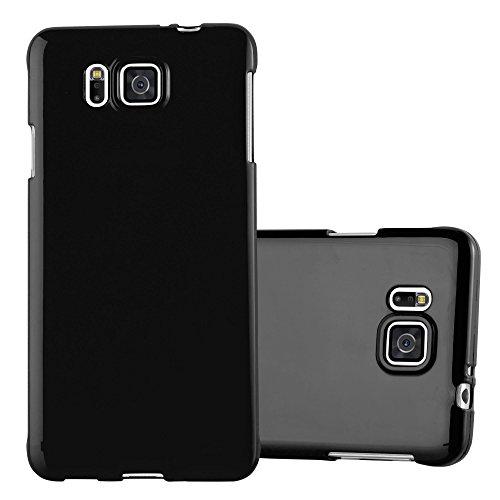 Preisvergleich Produktbild Cadorabo Hülle für Samsung Galaxy Alpha - Hülle in Jelly SCHWARZ – Handyhülle aus TPU Silikon im Jelly Design - Silikonhülle Schutzhülle Ultra Slim Soft Back Cover Case Bumper