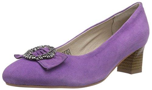 Bergheimer Trachtenschuhe Rosi, Damen Pumps, Violett (Purple), 42 EU