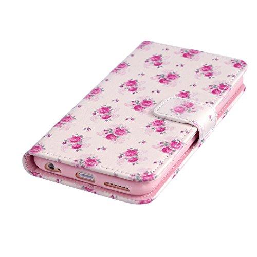 iPhone 6 Plus/6S Plus Hülle im Bookstyle, Xf-fly® PU Leder Flip Wallet Case Cover Schutzhülle für Apple iPhone 6 Plus/6S Plus (5.5 Zoll) Tasche Handytasche Schutz Etui Schale Handyhülle(nicht für iPho P-6