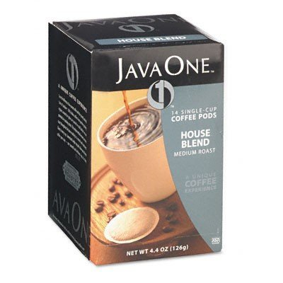 Coffee Pods, House Blend, Single Cup, 14/Box, Sold as 1 Box -