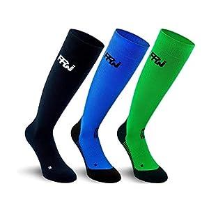 PPWear Kompressionsstrümpfe Sport Damen und Herren, Laufstrümpfe, Kompressionssocken ideal zum Laufen, Marathon oder Flug | Schnelle Erholung, leicht und atmungsaktiv