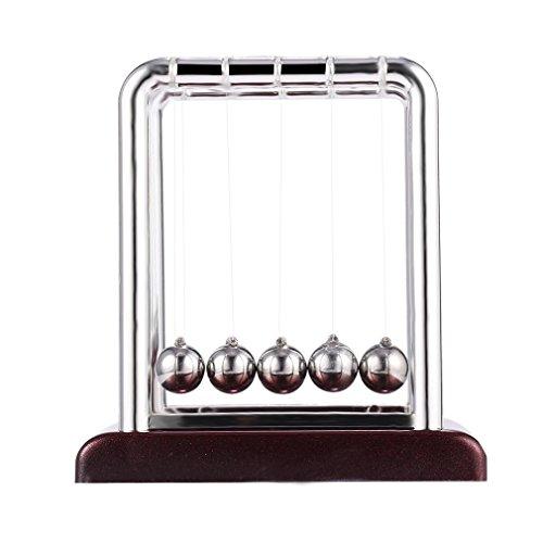 Joyceyayi Newtons Wiege Spaß Stahl Balance Ball Physik Wissenschaft Schreibtisch Spielzeug Zubehr Geschenk - Geschenke Schreibtisch Lehrer