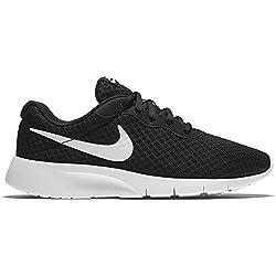 Nike Tanjun (GS), Baskets garçon, Noir (Black White 011), 38.5 EU