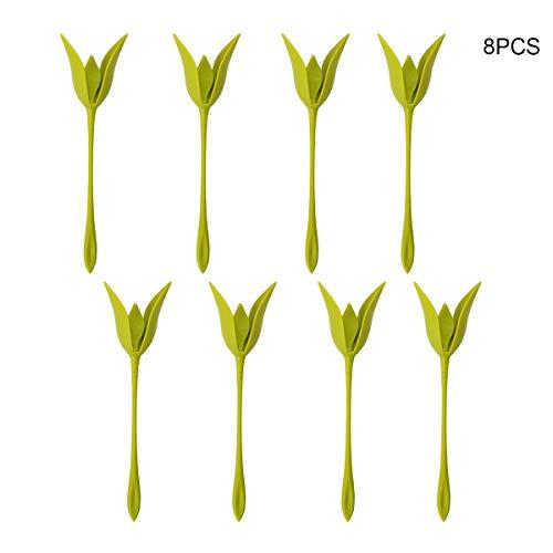 Kitchnexus Set 8 Stück, DIY Blumen Serviettenhalter Serviettenringe Twist Flower Buds Papierserviette Regal Tisch Schmücken ideal für Haus, Büro, Cafe