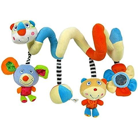 Happy cherry - Juguetes Colgantes Espiral para cochecitos cunas de Peluche Veludillo con Sonidos para Bebés recién nacidos Niños niñas para