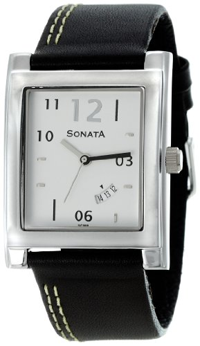 Sonata Analog White Dial Men's Watch - NF7925SL07A image