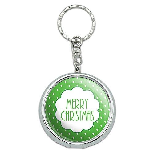 ße Pocket Geldbörse Aschenbecher Schlüsselanhänger Urlaub Weihnachten Halloween Merry Christmas Green Polka Dots (Merry Halloween)