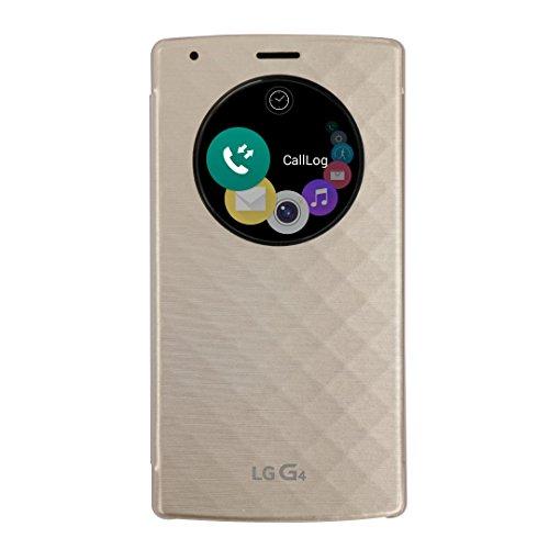LG Custodia Flip Quick View con Finestra Circolare per G4, Oro