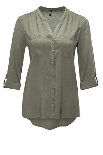 ONLY Damen Bluse Onlfirst LS Pocket Shirt Noos Wvn, Grün (Tarmac Tarmac), 38
