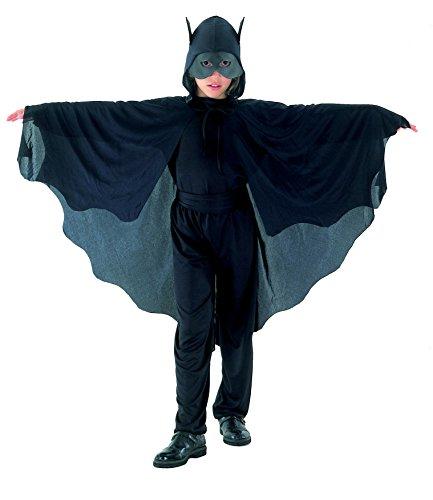FIORI PAOLO–murciélago Disfraz Niño L (7-9 anni) Negro