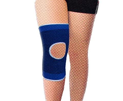Medium Elastic Blue Open Knee Support Pad Brace Arthritis Sleeve Bandage UK