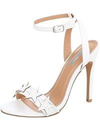 Sandali bianchi con punta aperta per donna Fashion thirsty