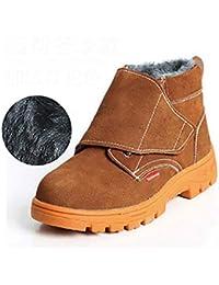 Zapatos de seguridad Botas de soldador para hombres Calzado de seguridad Calzado perforado Botas de seguridad
