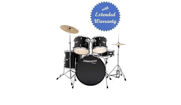 Fender Starcaster Drum Set Snare Drum Floor Tom Rack Toms Kick