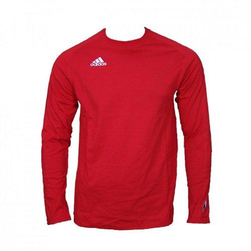 adidas Langarm Fitness Tee M in verschiedenen Farben Rot
