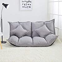 Floor Chair Lazy Sofa Folding Single Double Small Apartment Multi-functional Bedroom Small Sofa Bed Chair Small Cute Bean Bag Seat 3.3 (Color : H),No assemble Is Required (Color : K)