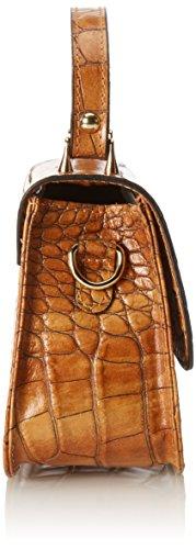 CTM Borsa da Donna Elegante, Pochette Donna, 20x15x8cm, Vera pelle 100% Made in Italy Cuoio
