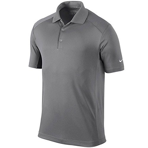 NIKE Men's Dri-Fit Victory Golf Polo Shirt-Gray-Small