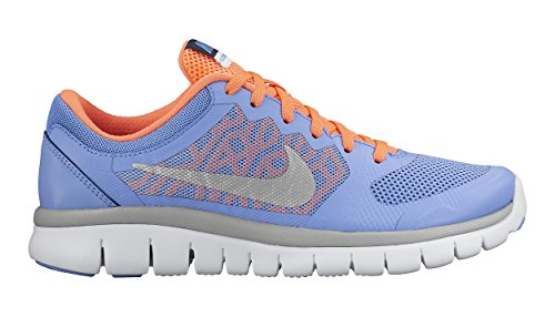 Nike Flex 2015 Run (Gs), Scarpe da Corsa Unisex – Bambini Multicolore (Mehrfarbig (Chalk Blue/Metallic Silver/Obsidian White 401))