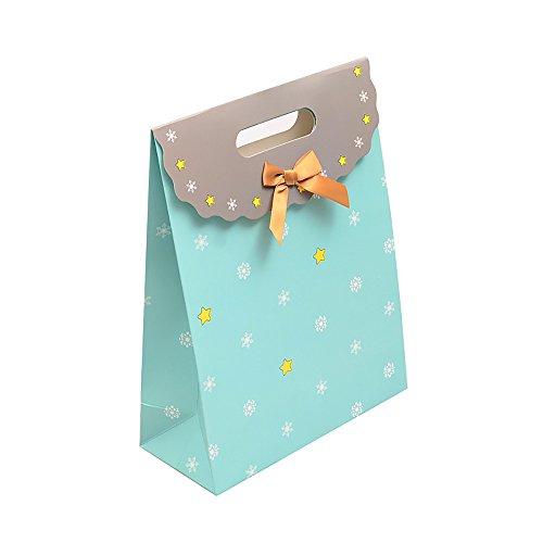 chenk Papier Tasche Hochzeit Favor Candy Boxen Craft Paket Taschen, blau, 17*12*6cm (Brautjungfer-geschenk-boxen)
