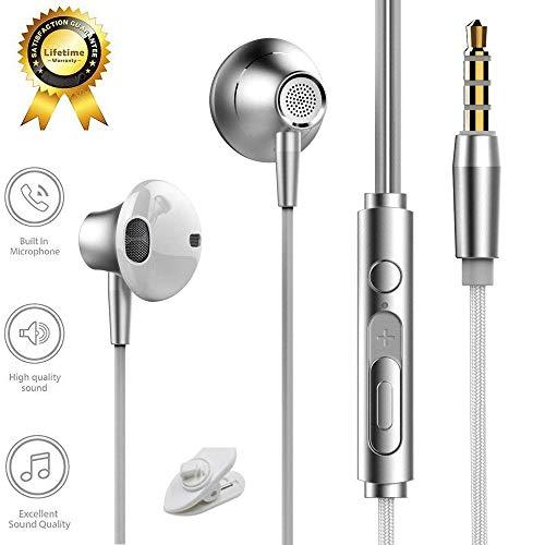 Auricolari cuffie in-ear stereo universale con microfono e controller con cavo cancellazione del rumore, wired headset 3.5 mm per iphone/ipod/ipad/lettori mp3/samsung galaxy/huawei /nokia/xiaomi/etc