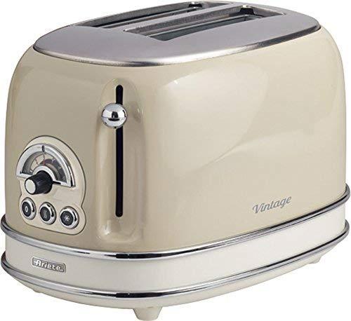 De Longhi Appliances S.R.L. 155/03-beige 155 Toaster 2 Scheiben Vintage Beige, Metall