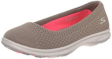 Skechers Performance Womens Go Step Challenge Walking Shoe Taupe Mesh 6 B(M) US