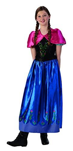 Fancy Ole - Mädchen Girl Kinder Anna Frozen Classic Kostüm mit Prinzessinnenkleid und Cape, perfekt für Karneval, Fasching und Fastnacht, 134-140, ()