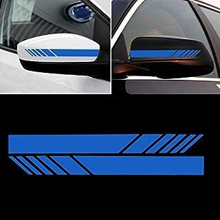 AmerStar DIY Auto Auto Karosserie Aufkleber Seitenaufkleber Streifen Aufkleber Aufkleber SUV Vinyl Grafik, Unisex, blau