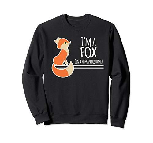 Fox Kostüm Red - Red Fox Kostüm Lustige Ich Bin Ein Füchse Halloween Sweatshirt
