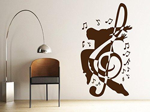 Preisvergleich Produktbild Zigzacs Wall Sticker Music Men Living Room Removable Stickers Wall Decal Posters