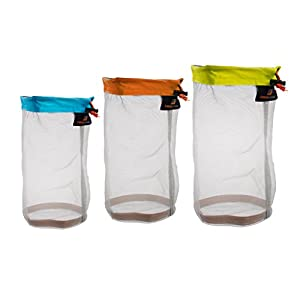 41jYq498FOL. SS300  - MagiDeal 3pcs Outdoor Travel Camping Sports Ultra Mesh Stuff Sack Drawstring Bags
