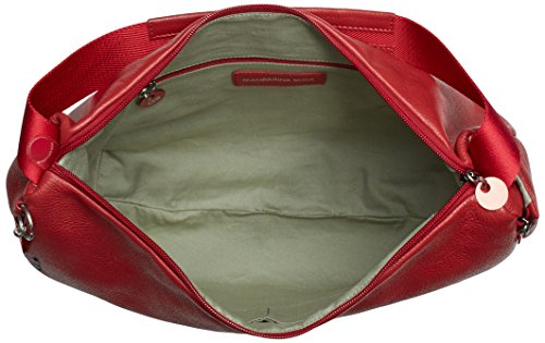 Mandarina Duck Mellow Leather Tracolla, Sacs bandoulière Femme Rouge (Red)