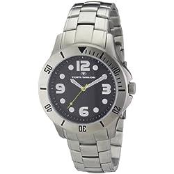 TOM TAILOR Herren-Armbanduhr XL Analog Quarz Edelstahl 5407204