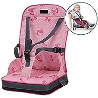 Preisvergleich für Chunse Faltbarer Baby-Aufladungssitz, Geschirr-Baby-Kleinkind-Kind, Das Stuhl, Hochstuhl-Kissen Speist,Pink
