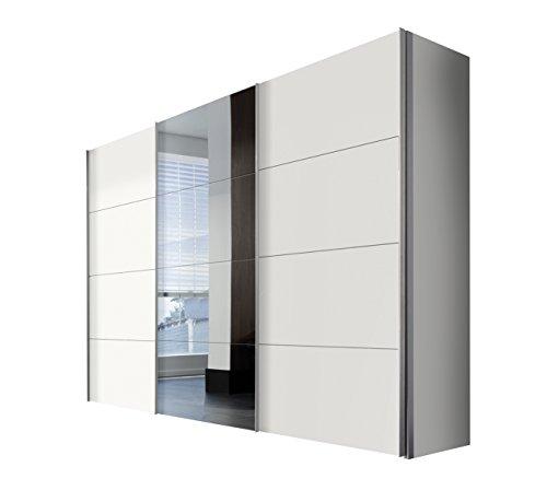 Express Möbel Schwebetürenschrank 3-türig Four You Weiß  Spiegel BxHxT 300x216x68 in verschiedenen Farben und Größen
