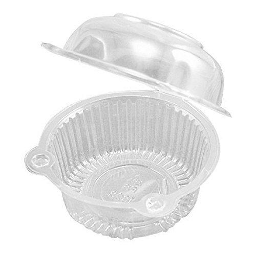 leoyoubei 100Stück klar Kunststoff Single einzelnen Cupcake Muffin Dome Halterungen Fällen Tassen pods- Cupcake Trägern (Zum Verkauf Kunststoff-tassen)