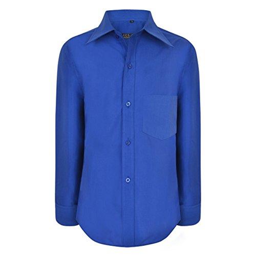 AEL-Hemd Jungen Formale Plain Langärmlig Hochzeitsanzug Smart-Party, Alter Größe 1-15 Jahre