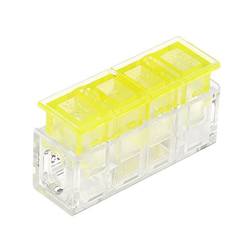MYAMIA 1Pin bis 1Pin Wire Connector Flame Retardant Fast Spring Terminal Block Electric Cable Connector
