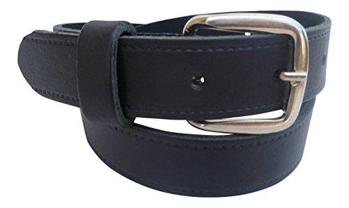 Streeze 24mm Ledergürtel für Jungen. Schwarzer Kinderledergürtel Schulgürtel Größen 46cm – 76cm (66cm Taille)