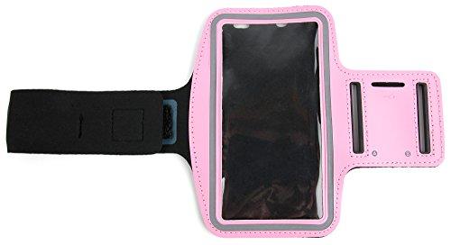 DuraGadget Sport-Armband mit Schlüsselfach für Samsung Galaxy Note5 / S6 / S6 Active / S6 edge (April 2015) und S6 edge+ (August 2015) Smartphones (Rosa)