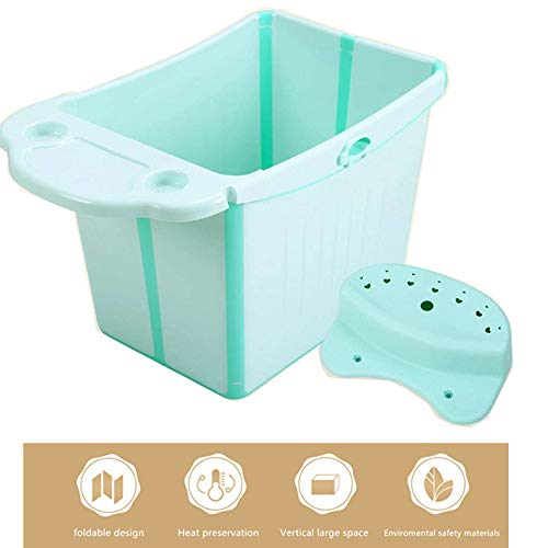 FANMURAN Bañera Plegable para bebés Bañera Portátil sin tóxico Tamaño Grande Antideslizante Tina de baño Ligero y fácil Almacenamiento Ducha Baños(Verde)