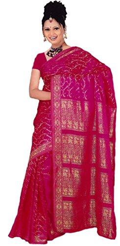 Trendofindia Indisches Sari Damenkostüm Bollywood Sari Kleid Pink CA106