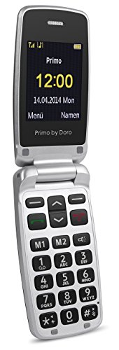 Primo 405 by Doro grau GSM Mobiltelefon (0,3 MP-Kamera, Bluetooth, Taschenlampe)