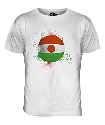 CandyMix Niger Fußball Herren T Shirt Weiß